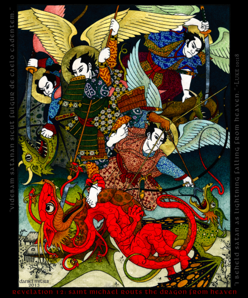 Mr. Daniel Mitsui's depiction of Revelation 12 in the Traditional Japanese style.