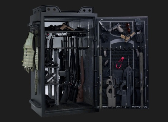 [Click on the safe for your own weapons.]