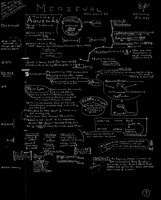 [above is the 3rd page of notes from my Philosophy 235 class: Medieval Philosophy]
